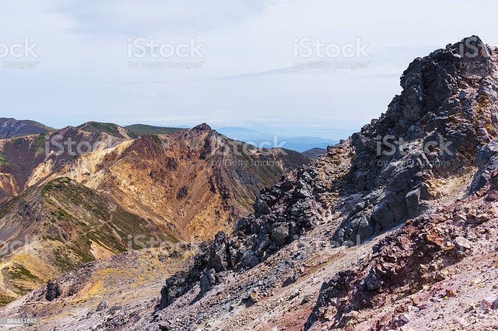 View from Mount Nasudake (Chausudake) ストックフォト