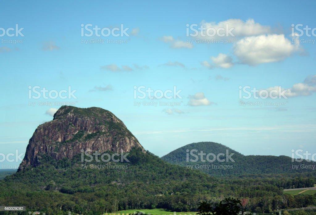 Vue du Mont Ngungun, Tibrogargan à Glass House Mountains photo libre de droits