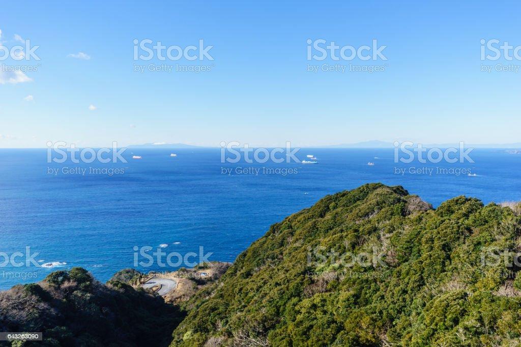 View from Mount Nokogiri, Chiba stock photo