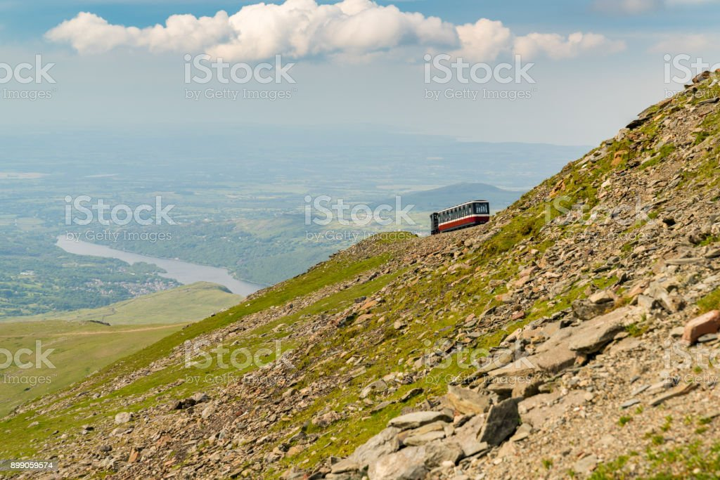 View from Mount Snowdon, Wales, UK stock photo