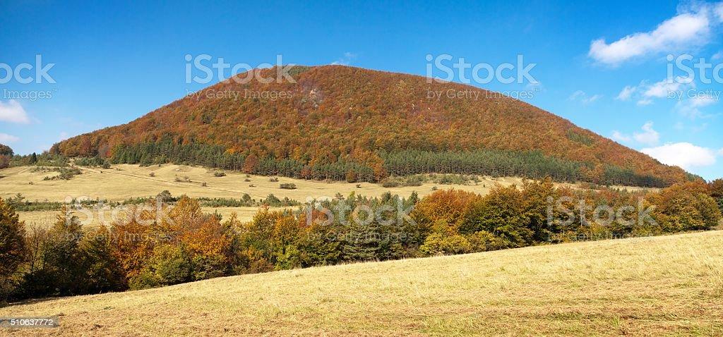 View from mount Strazov, Strazovske vrchy, Slovakia stock photo