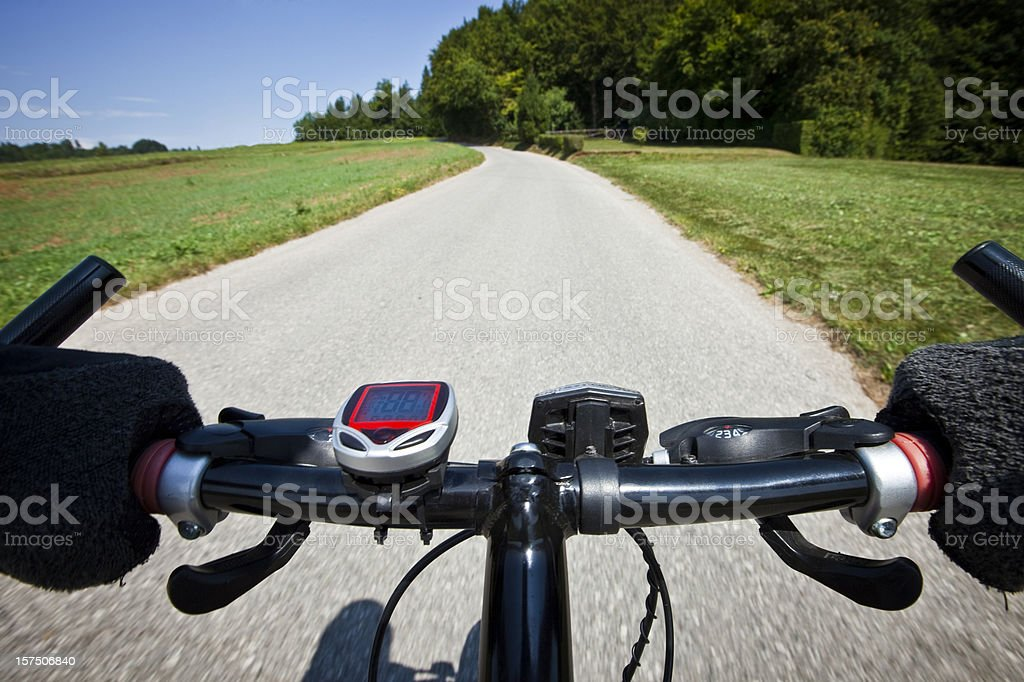 View from mountain bike royalty-free stock photo