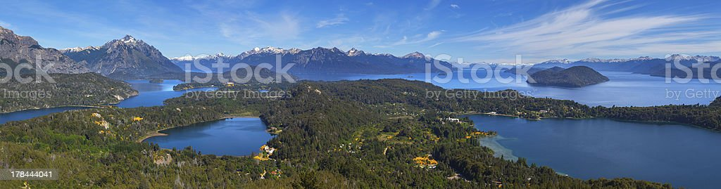View from mountain Campanario, Bariloche, Argentina royalty-free stock photo