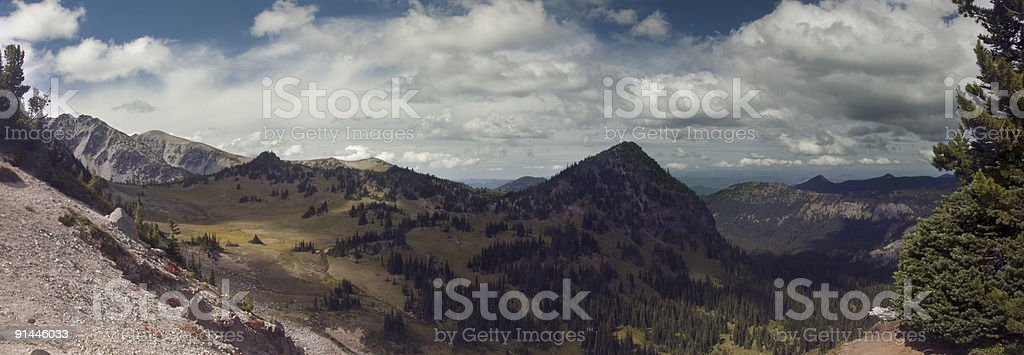 View from Mt. Rainier Sunrise Hike royalty-free stock photo