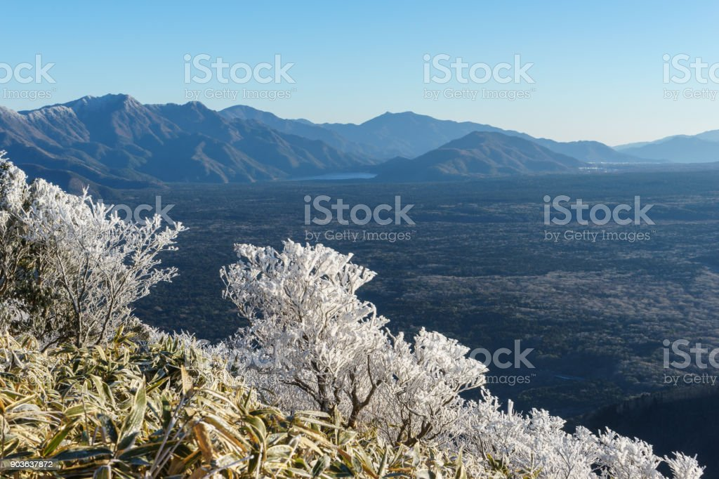 山竜ヶ岳、山梨県からの眺め ストックフォト