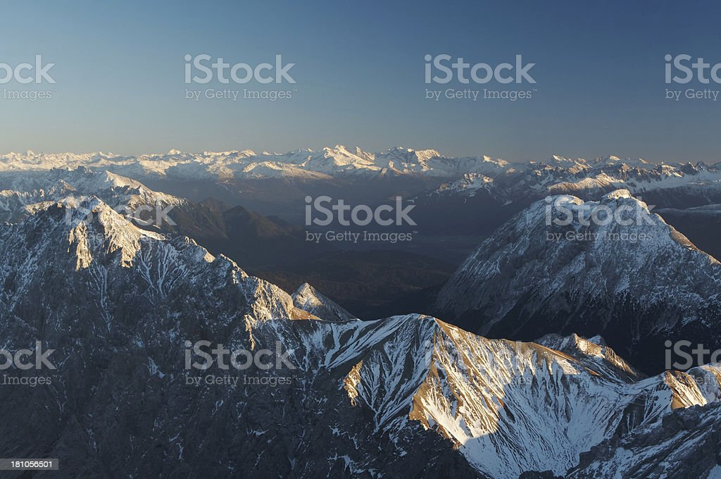 view from mt. zugspitze royalty-free stock photo
