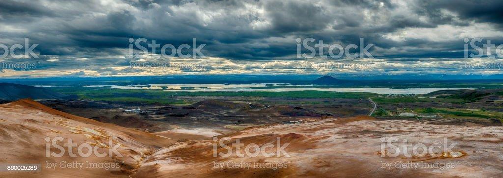 View from Namafjall stock photo