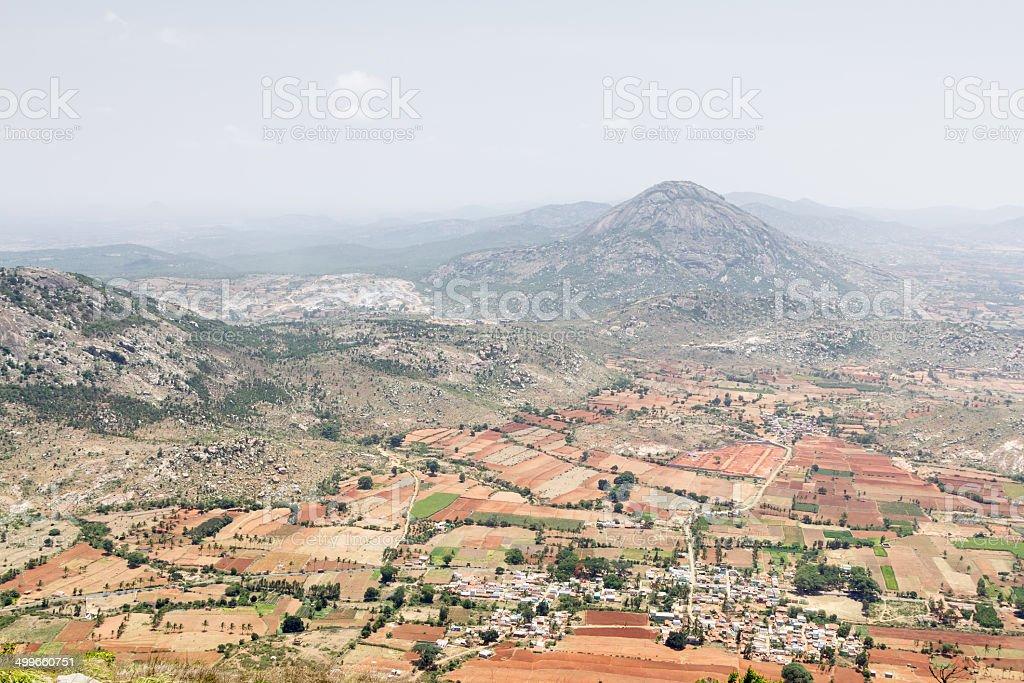 View from Nandi hills, Karnataka, India royalty-free stock photo