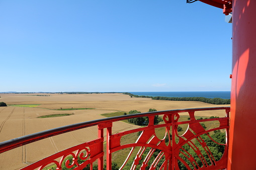 View from New lighthouse at Cape Arkona at Island Rügen, Baltic Sea Germany