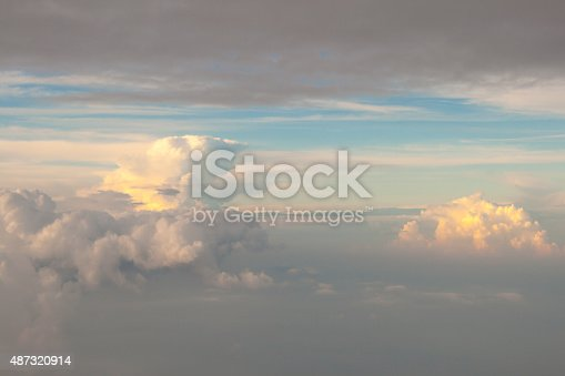istock view from off the plane on clouds 487320914