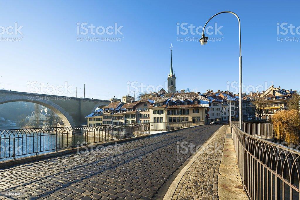 View from Old Untertorbrücke, Bern, Switzerland stock photo