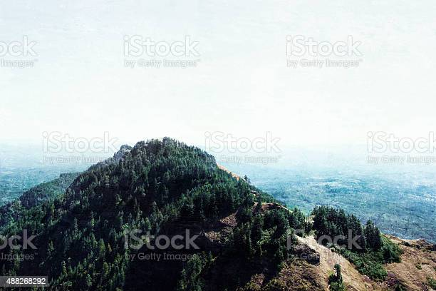 View From On Top Of Saddle Mountain Stock Photo - Download Image Now
