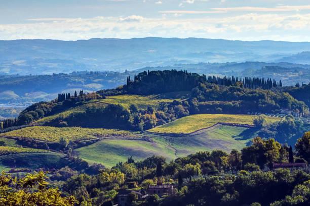 Blick vom Aussichtspunkt in San Gimignano, Italien – Foto