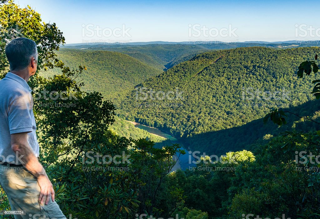 View from Overlook in Snake Hill WMA in WV stock photo