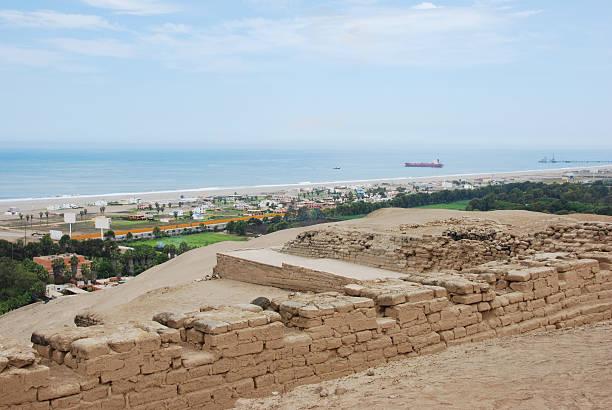 View from Pachacamac stock photo