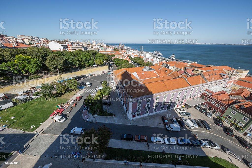 View from Panteão Nacional, National Pantheon, Lisbon, Portugal stock photo