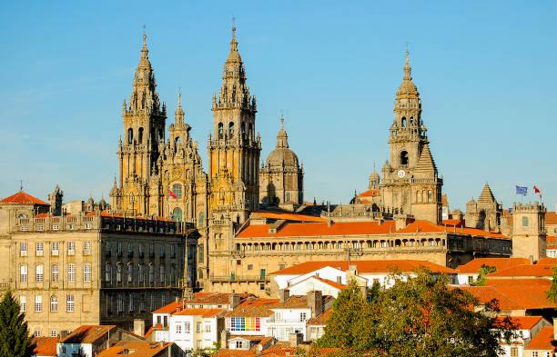 View from Parque da Alameda - Santiago de Compostela stock photo