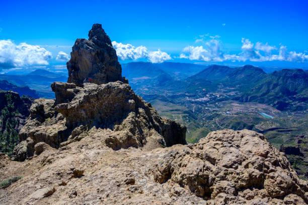 View from Pico de las Nieves - the highest mountain of Gran Canaria island, Spain