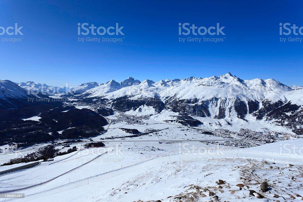 View from Piz Muragl - Switzerland royalty-free stock photo