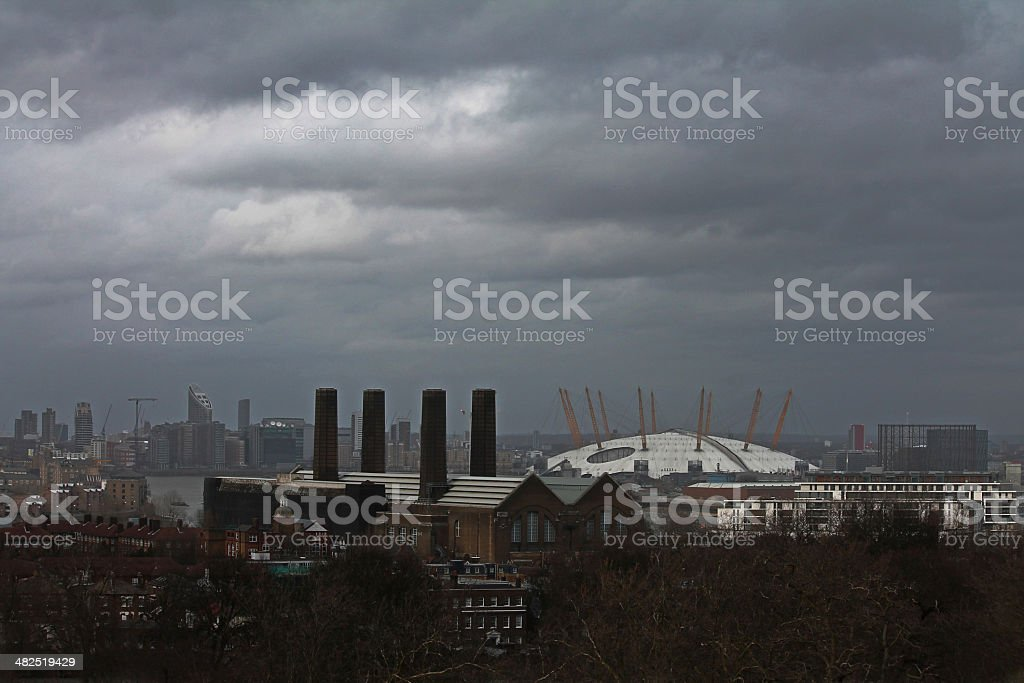View from Point Hill, Greenwich, London, UK stock photo