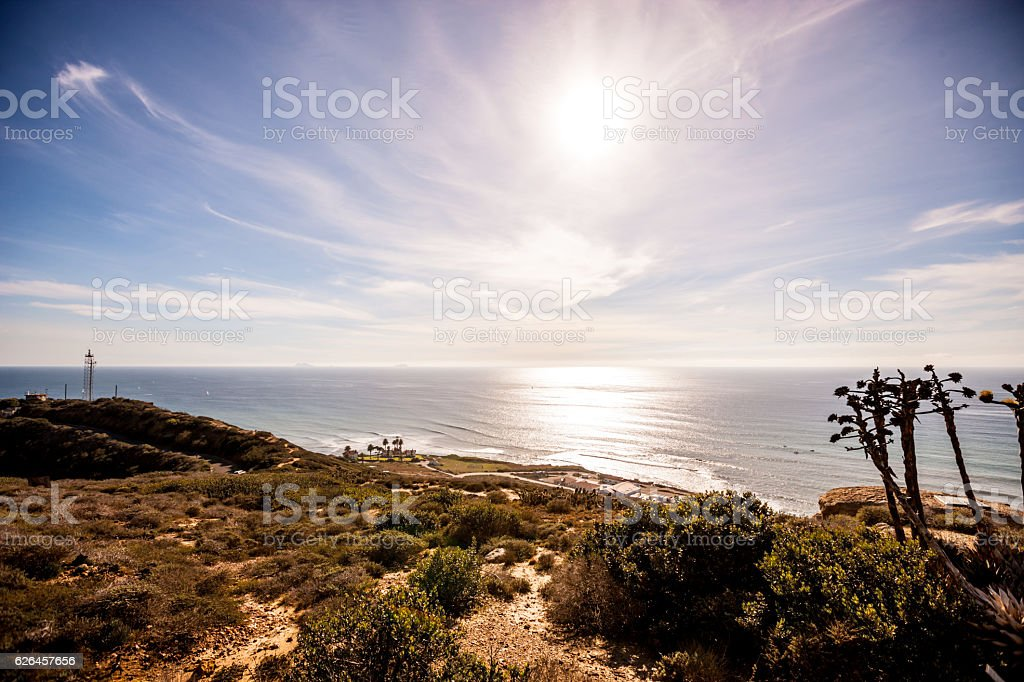 View from Point Loma, San Diego, USA stock photo