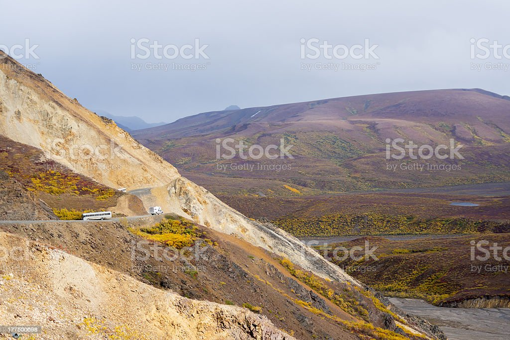 View from Polychrome Pass royalty-free stock photo
