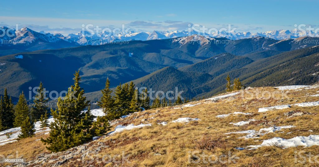 View from Prairie Mountain, Alberta - Royalty-free Adventure Stock Photo