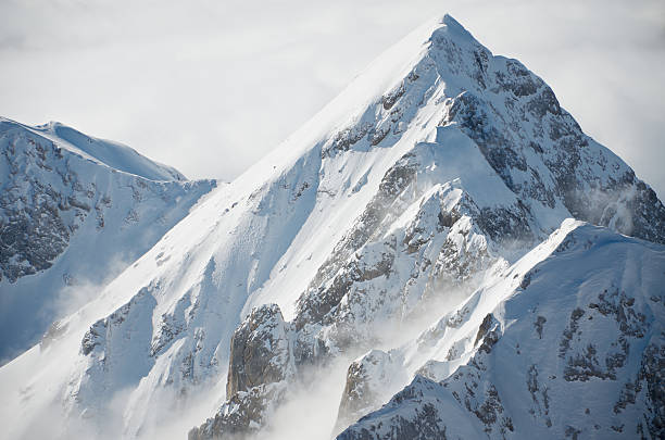 view from punta rocca, marmolada - snowy mountains stock photos and pictures