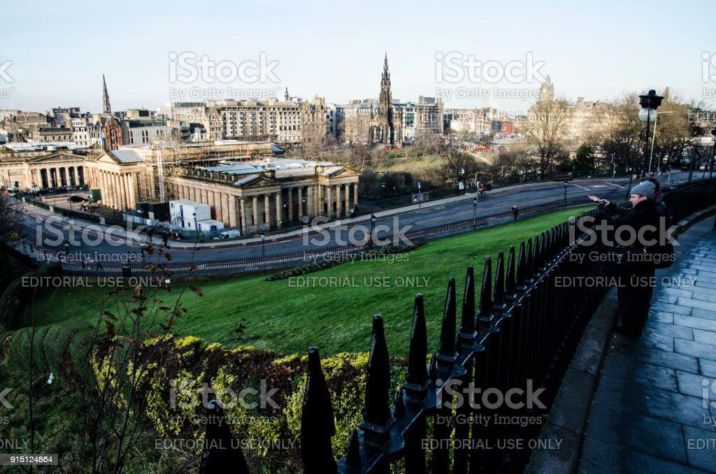 View from Ramsay Lane, Edinburgh stock photo