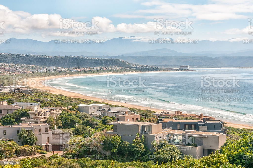 View from Robberg Nature Reserve stock photo