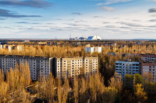istock View from roof of 16-storied apartment house in Pripyat town, Chernobyl Nuclear Power Plant Zone of Alienation, Ukraine 1060912240