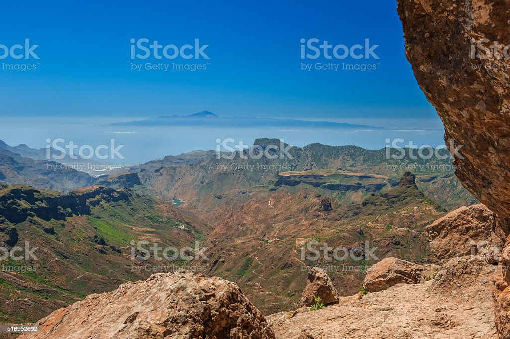 View from Roque Nublo stock photo