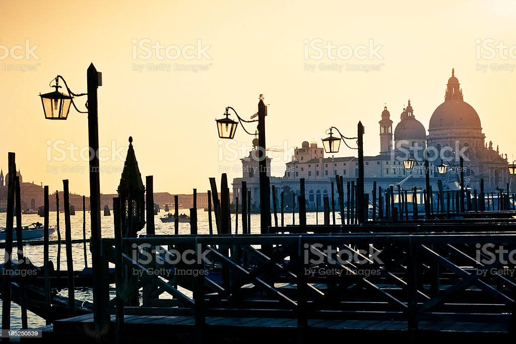 View from Saint Mark's Square, Venice royalty-free stock photo