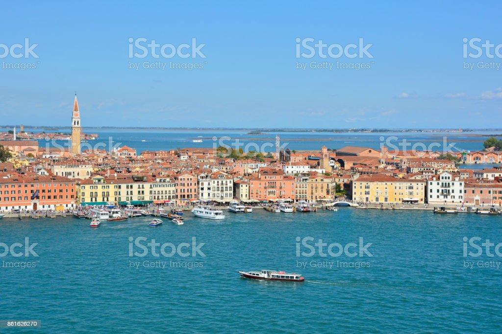 Vista de San Giorgio Maggiore - foto de acervo
