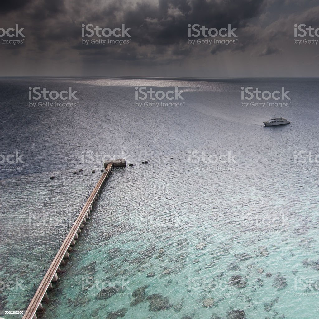 View from Sanganeb Lighthouse stock photo