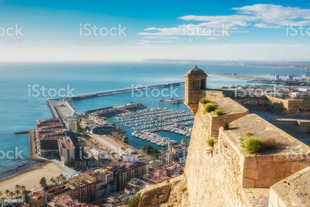 Blick von der Burg Santa Barbara marine Alicante, Provence-Valencia, Spanien – Foto