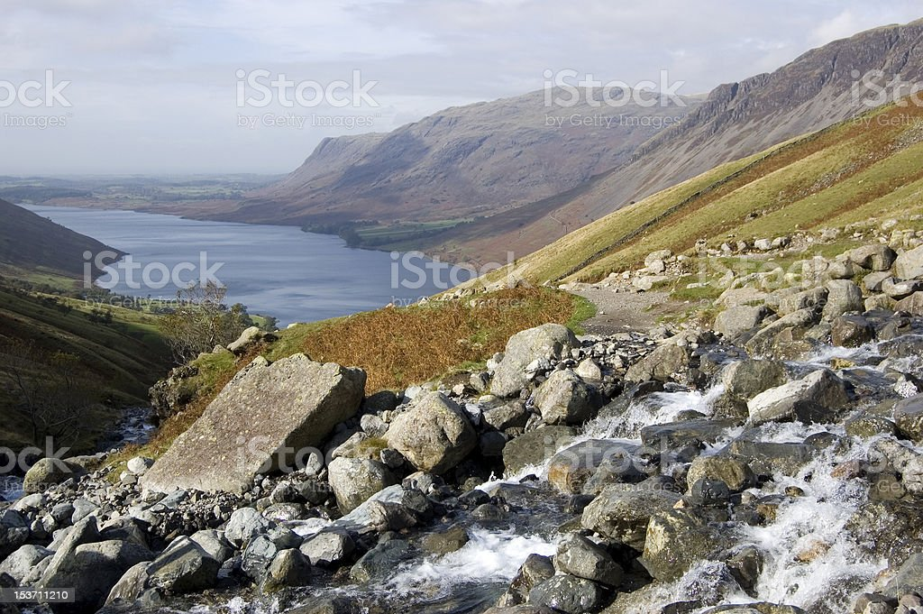 view from Scafell Pike, Lake District, UK stock photo