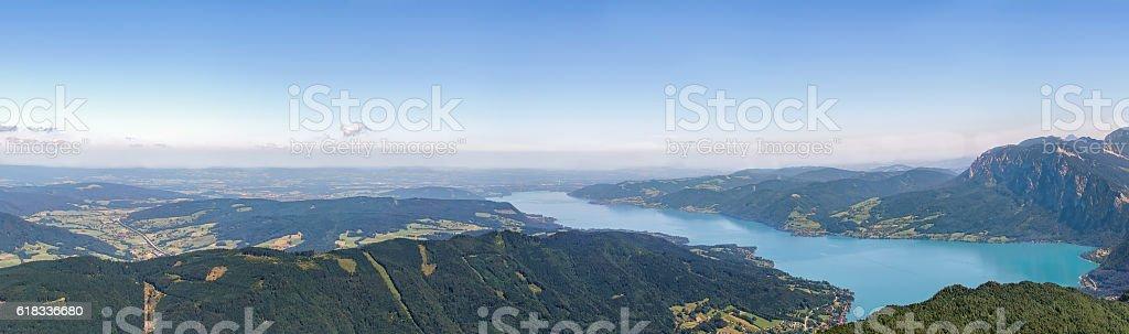 View from Schafberg mountain, Austria – Foto