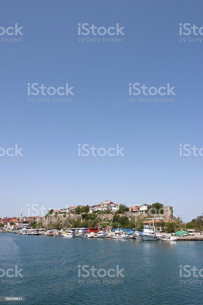 View from sea of Amasra stok fotoğrafı