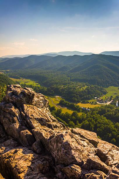 View from Seneca Rocks, Monongahela National Forest, West Virgin stock photo