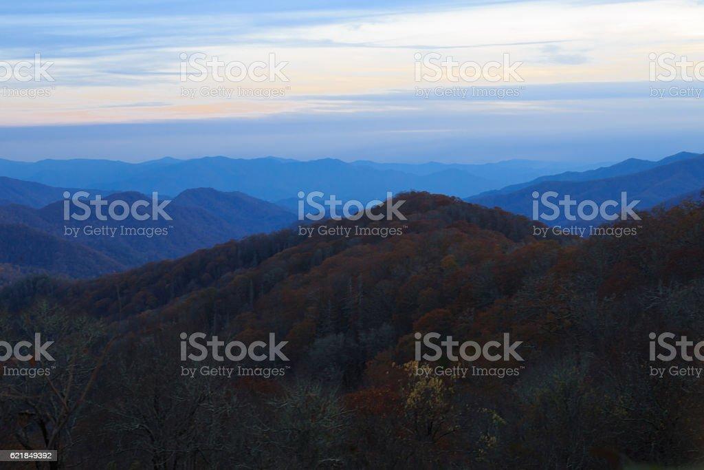 View from Smokey mountains. stock photo