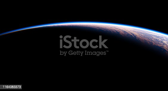 istock View From Space On The Planet Earth. NASA Images Not Used. 1164083373