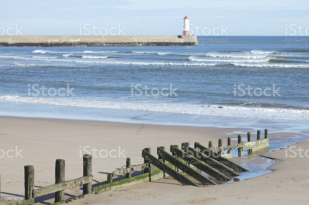 view from Spittal beach and Tweed estuary royalty-free stock photo