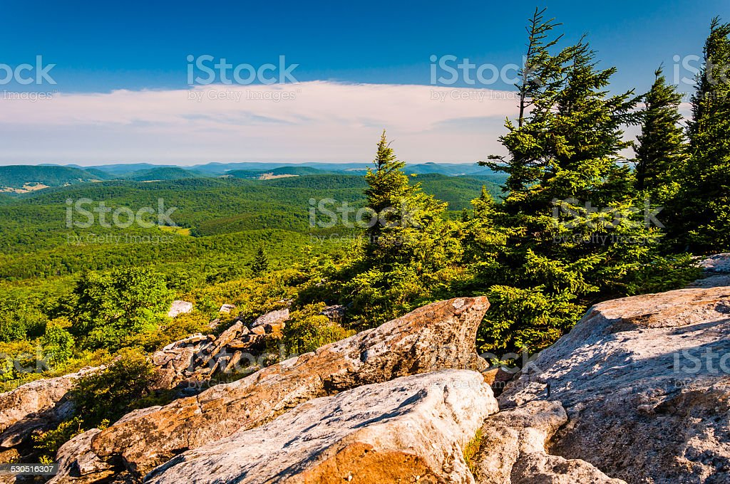 View from Spruce Knob, West Virginia. stock photo
