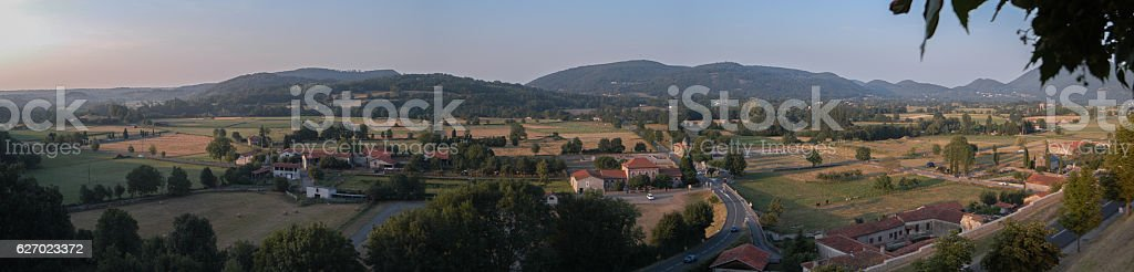View from st Bertrand de comminges stock photo