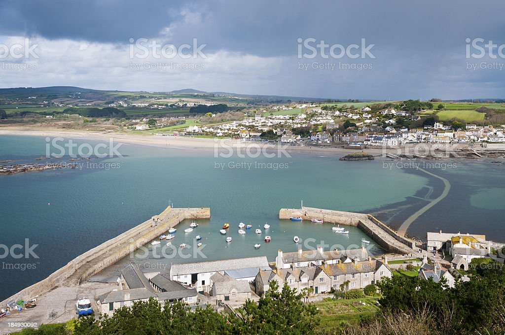 View From St Michael's Mount In Cornwall, England stock photo