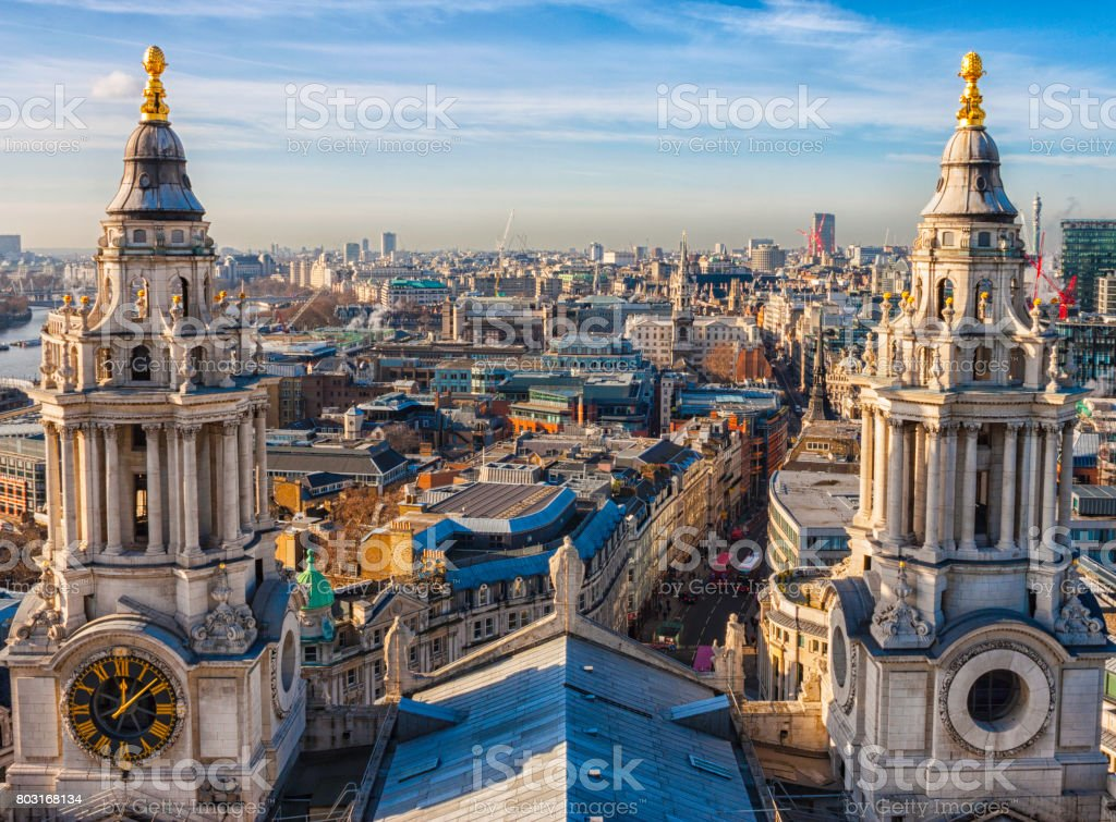 View From St Paul's In London stock photo