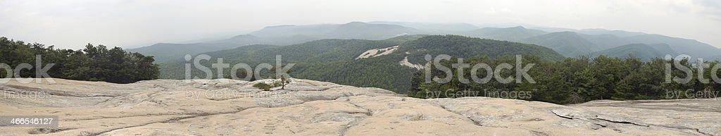 View from Stone Mountain, North Carolina royalty-free stock photo