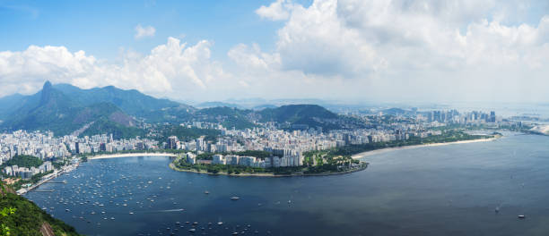 View from Sugarloaf Mountain in Rio De Janeiro, Brazil stock photo