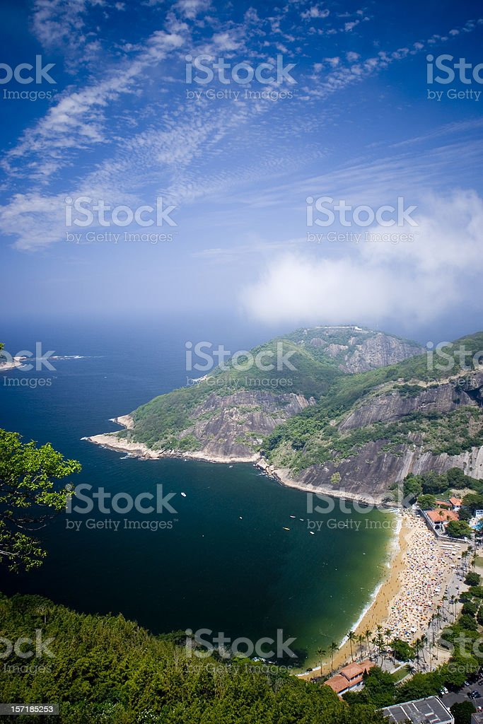View From Sugarloaf Mountain in Rio de Janeiro royalty-free stock photo